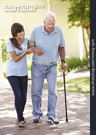 Grandfather, Senior, Care & Charity, Old Nurse
