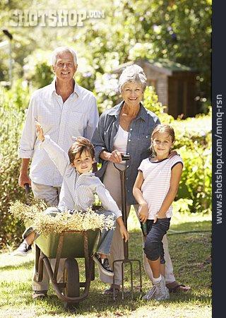 Grandson, Teamwork, Grandparent, Gardening