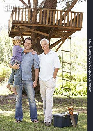 Grandson, Grandfather, Father, Family Portrait
