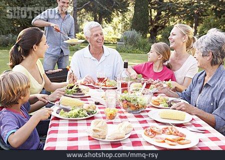 Family, Barbecue, Garden Party