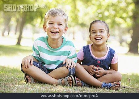Boy, Girl, Laughing, Siblings
