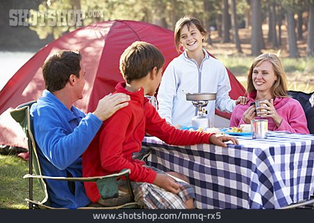 Meal, Family, Camping