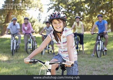Girl, Cycling Helmet, Bike Ride