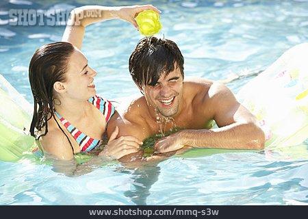 Couple, Summer, Pool, Bathing