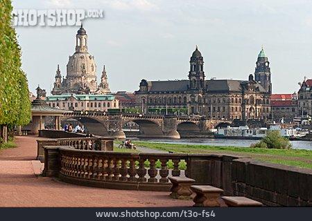 Elbe River, Dresden, Frauenkirche