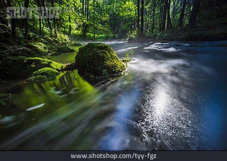 Light, River, Flowing