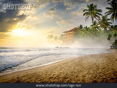 Sunrise, Beach, Sri Lanka
