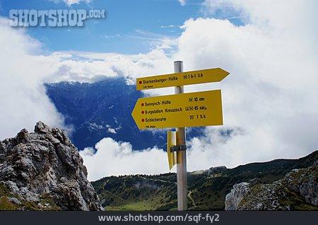 Footpath Sign, Stubaital, Stubai Alps