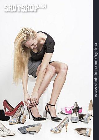 Woman, Shoes, High Heels