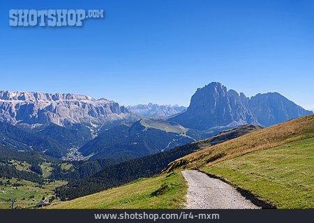 Trail, Dolomites, Sella Group
