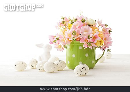 Bouquet, Rabbit Figure, Easter Decoration