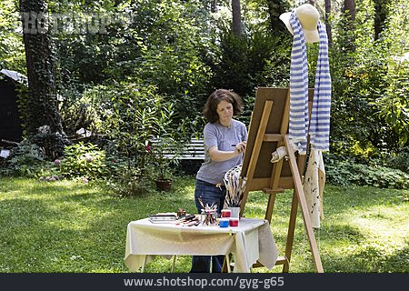Painting, Easel, Artist