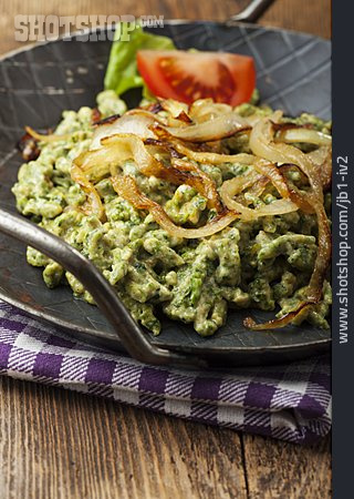 Spaetzle, Meal, Spinach Noodles