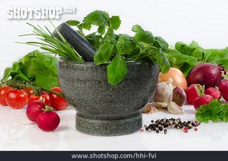Spices & Ingredients, Mortar, Pestle