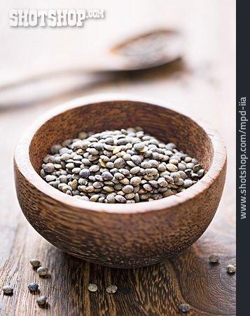 Spices & Ingredients, Lentil, Wooden Bowl