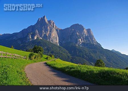 Trail, Schlern Mountain, South Tyrol Dolomites