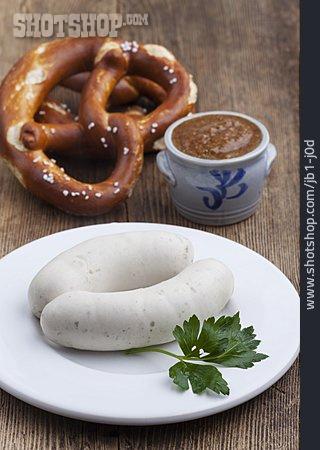 Pretzel, Sweet Mustard, Weisswurst