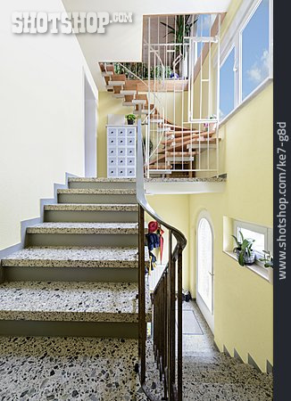 House, Stairway, House Entrance