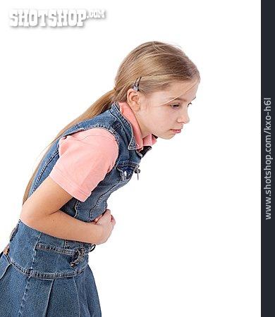 Girl, Abdominal Pain, Nausea