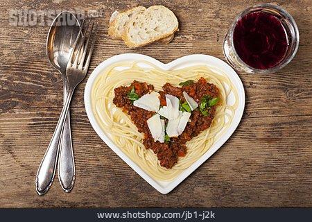 Heart, Spaghetti, Bolognese