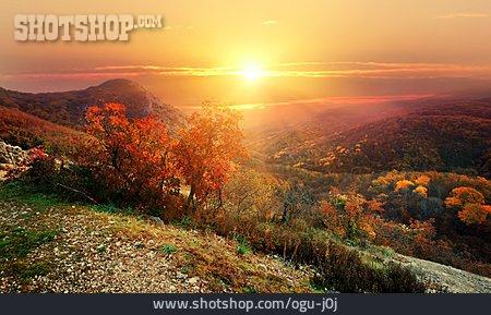 Evening, Mountains, Indian Summer