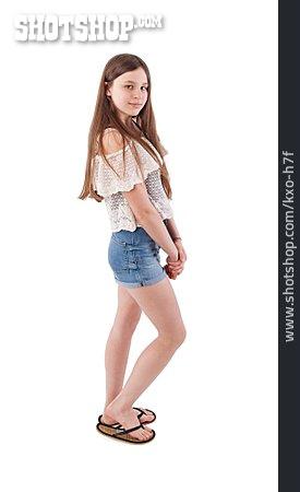 Teenager, Girl, Hotpants