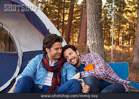 Love Couple, Cuddle, Homosexual, Camping