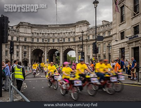 Cycling Running, Sports Event, Admiralty Arch, Prudential Ridelondon