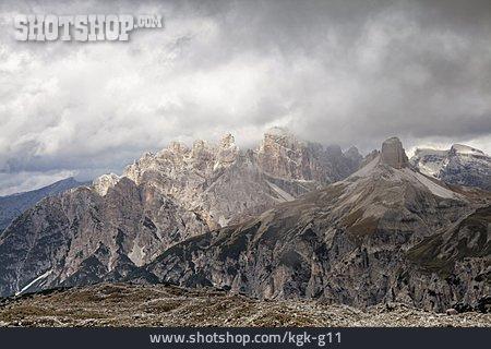 Mountain Top, Sexten Dolomites, Three Peaks