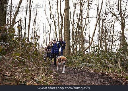 Dog, Family, Walk, Walk