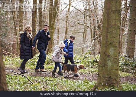 Family, Walk, Nature