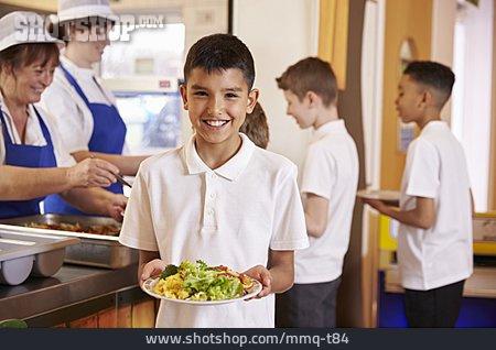 Boy, School Children, Cafeteria, Cafeteria