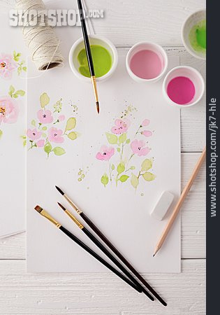 Watercolor Painting, Drawing, Floral