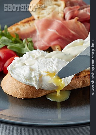 Egg, Breakfast, Poached