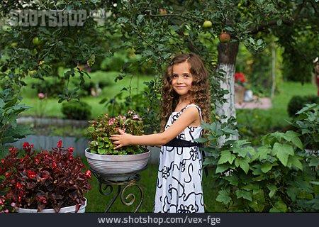 Girl, Garden, Summer Sundress