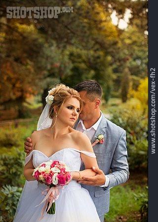 Wedding, Romantic, Bridal Couple