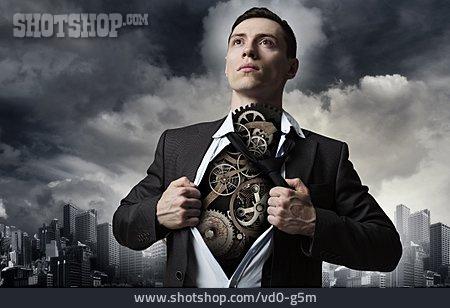 Businessman, Machine, Humans, Cyborg