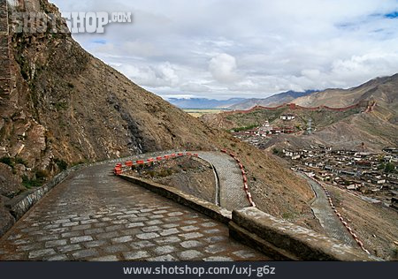 Mountain, Tibet, Road