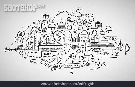 Circulation, Sketch, Chart