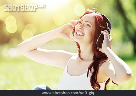 Happy, Listening Music