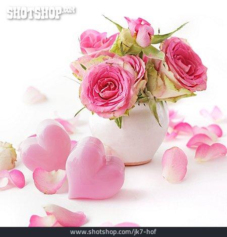 Decoration, Valentine, Rose Bouquet