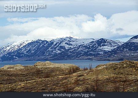 Mountain Range, Iceland, Glacier
