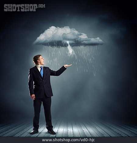 Businessman, Misfortune, Stress & Struggle