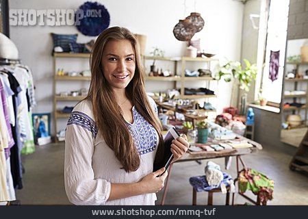 Sales Area, Female Shop Owner, Concept Store