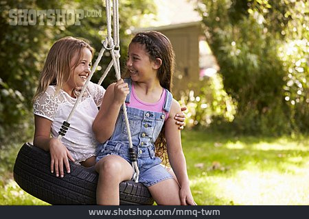 Girl, Friendship, Swing, Friends, Rocking