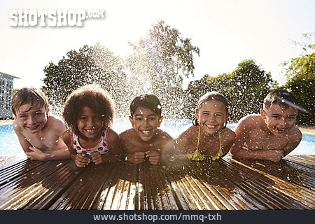 Children Group, Summer, Resort Swimming Pool
