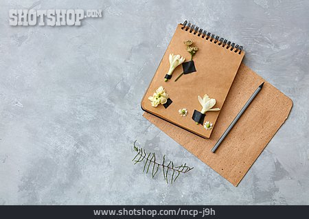 Design, Note Pad, Floral