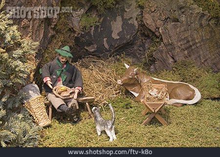 Tradition, Rural Scene, Home, Nativity