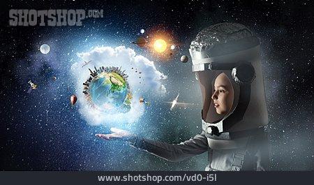 Earth, Contemplate, Astronaut