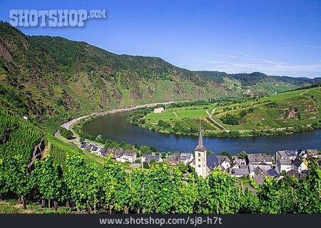 Rhineland-palatinate, Bremm, Mosel River